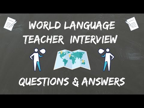 World Language Teacher Interview Questions & Answers