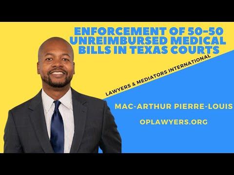 Enforcement of 50-50 unreimbursed medical bills in Texas Courts