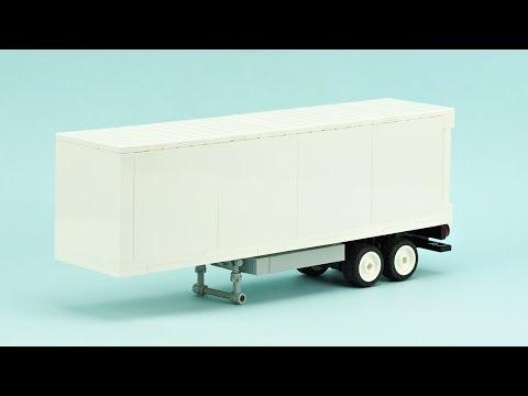 LEGO Dry Van Semi-Trailer. MOC Building Instructions