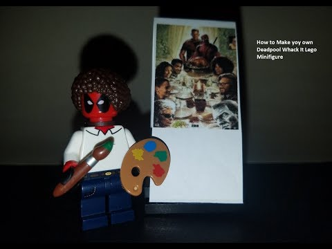 Whack It - How to Make your own Deadpool Bob Ross Lego Minifigure