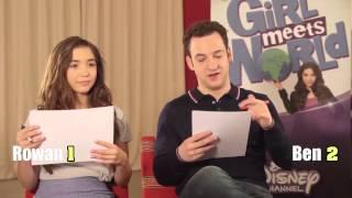 Disney's Girl Meets World stars Rowan Blanchard and Ben Savage play 90s v noughties