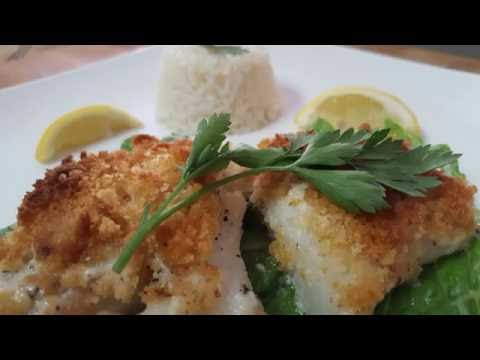 LEMON CRUSTED BAKED COD, RICHARD IN THE KITCHEN
