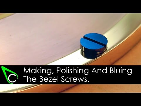How To Make A Clock In The Home Machine Shop - Part 11 - Making Polishing And Bluing Bezel Screws