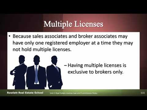 Broker Multiple Licenses