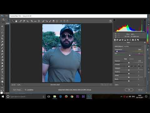 convert raw photos into jpeg format using adobe photoshop in hindi language tutorials