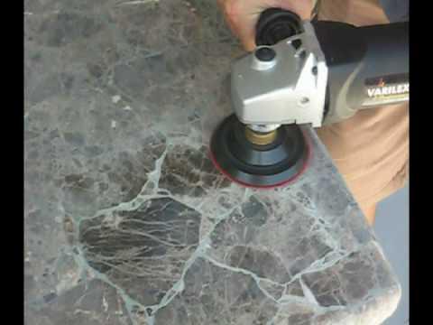 Polishing Granite Dry