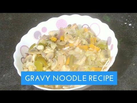 Chinese Gravy Noodles - Restaurant Style gravy Chowmein Recipe|Gravy Noodles|Noodles in Thick Gravy