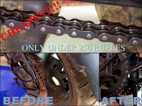 How To Clean And Lubricate Motorcycle Chain In The Cheapest Way!!!   250र/- ONLY!!!