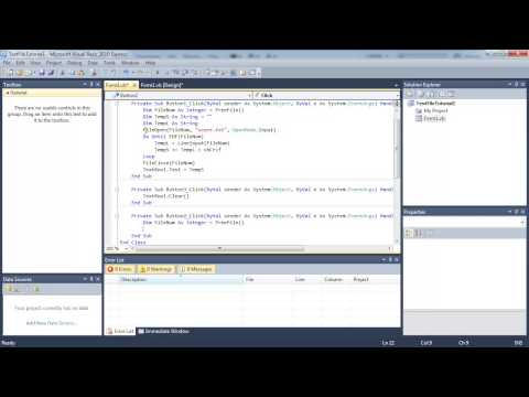 Visual Basic Programming lesson 13 - Write to text file