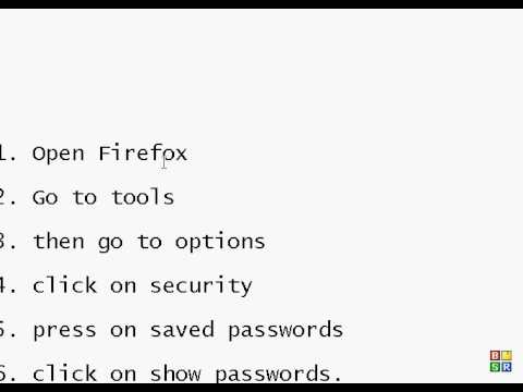 How to find your saved passwords in firefox