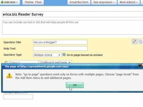 Create a Free Online Survey Using Google Docs (Free Online Survey Tool)