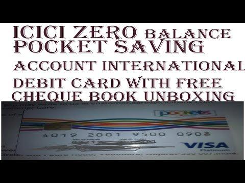 icici pocket saving bank account zero balance  received,cheque,passbok and debit card