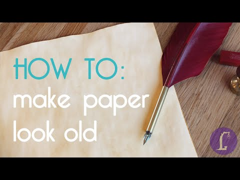 How to make paper look old | DIY Aging Paper