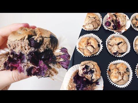VEGAN BLUEBERRY MUFFINS // GF, Sugar Free & Healthy!