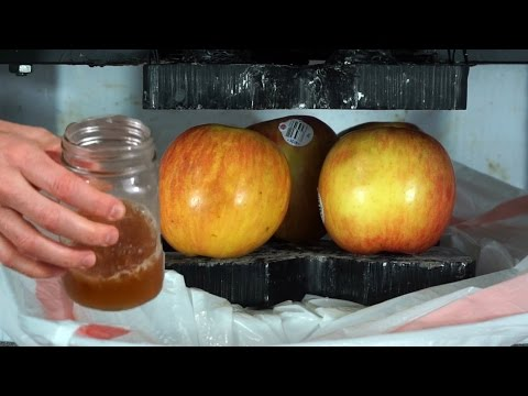 Did I Just Make Apple Juice With A Hydraulic Press?