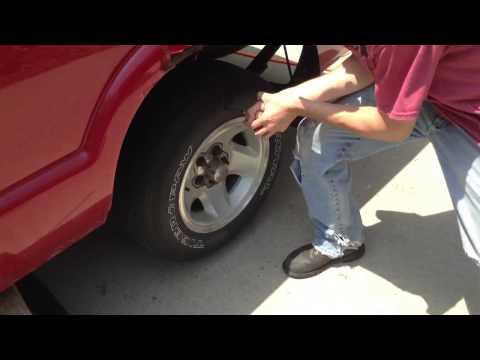 Slashing a tire