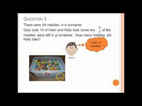 P4 Fractions : Word Problems