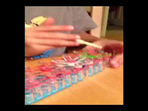 6-year old Zachary Rainbow Loom Starburst bracelet Tutorial
