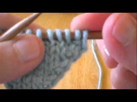Knitting Increase: kf&b