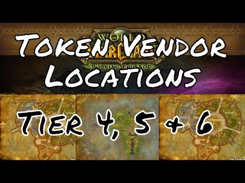 Where to Turn in Tier 4, 5 & 6 Raiding Tokens (Vendors)