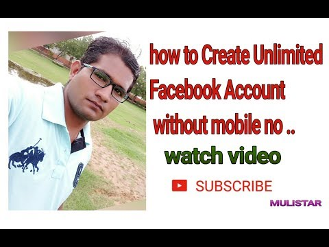 How to create facebook account without mobile number and deactivate old account