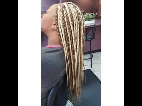 Long box braids by Authentic African hair braiding and