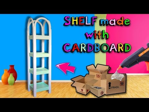 Awesome CRAFTS that you can do with CARDBOARD - super resistant bookcase DIY #2