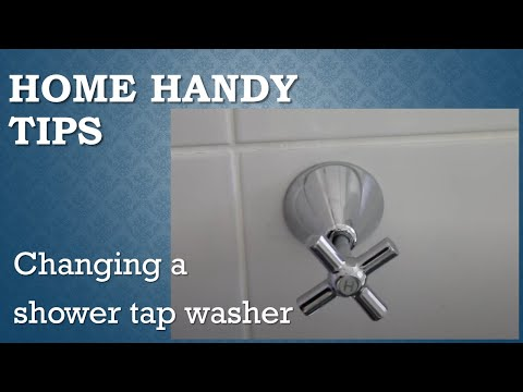 Changing a shower tap washer