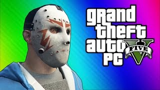 GTA 5 PC Online Funny Moments - Clapping Man & Defending the Hangar!