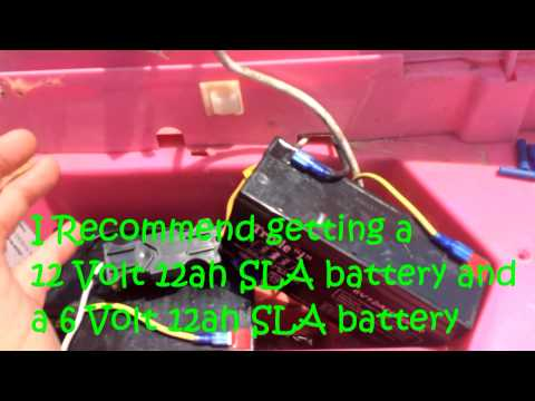 How To Modify 12 Volt Barbie Jeep Power Wheels To 18 Volts PLUS 18V Test Run