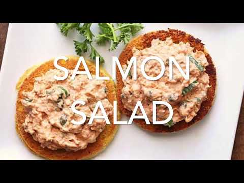 Salmon Salad on Keto English Muffin