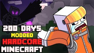 I Survived Hardcore Modded Minecraft For 200 Days using the largest modpack possible
