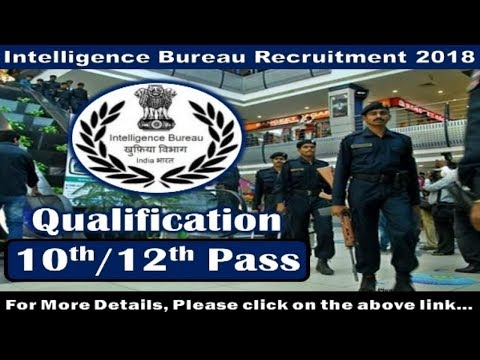 Intelligence Bureau (IB) Recruitment 2018 | Govt Jobs | Sarkari Naukri