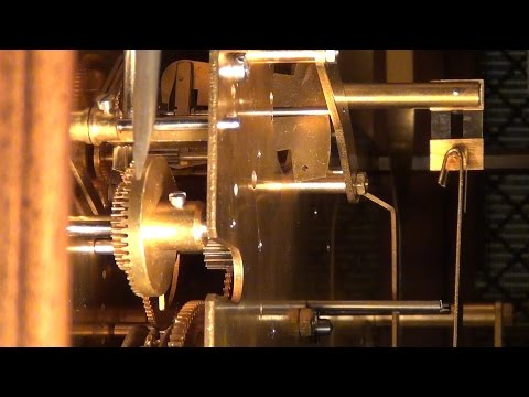 Setting a Grandfather Clock Hour and Quarter Hour Chime Gear Trains