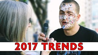 DOING EVERY TREND OF 2017 WITH STRANGERS | Chris Klemens
