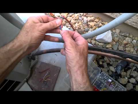 How To Repair An Air Conditioner, After The Dog Chews The Thermostat Wires DIY