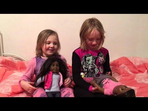 Two White Girls Happy to Get Black American Girl Dolls for Christmas || ViralHog