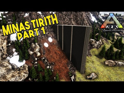 Epic Base Building - Minas Tirith Part 1 - Ark Survival Evolved