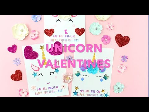 DIY Unicorn Valentine Cards