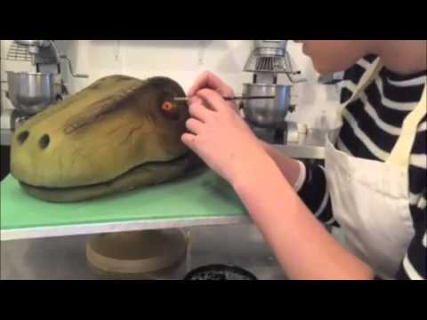 Dinosaur Cake Time Lapse