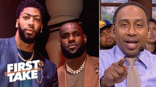 Stephen A. predicts a 2020 Lakers championship if Anthony Davis joins LeBron | First Take