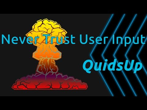 Never Trust User Input. A look at how to prevent SQL Injection Attacks