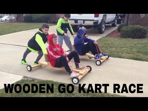 Wooden go kart race