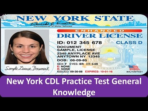 New York CDL Practice Test General Knowledge