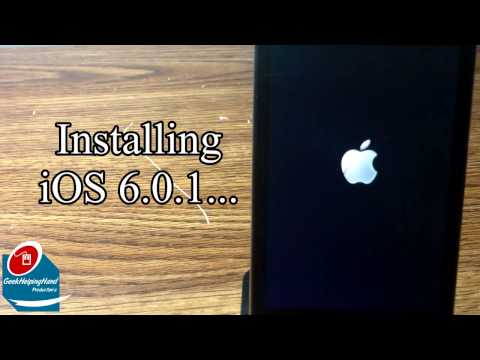 How-To: Install iOS 6.0.1 on Apple iPod Touch (4th Generation) | GeekHelpingHand