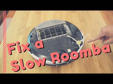 How to fix a slow running Roomba robot vacuum cleaner.