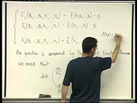 47 - The inverse function theorem