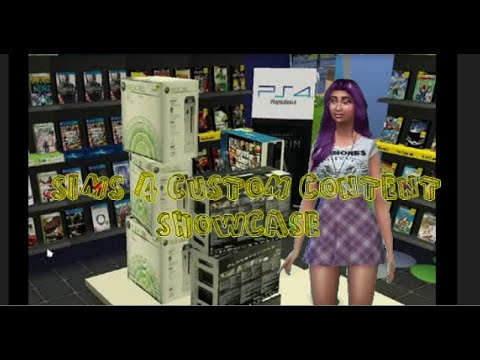 Sims 4 CC- OWN A GAME STORE+CAS ITEMS+MORE