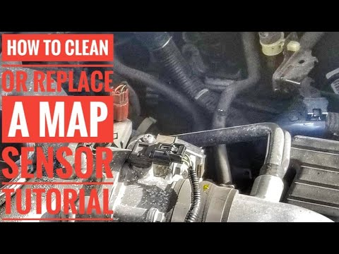 HOW TO REPLACE OR  CLEAN A MAP SENSOR P0107 P0108