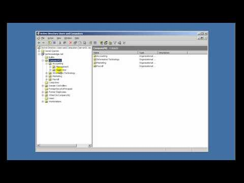 Creating & Designing Organizational Units in Active Directory